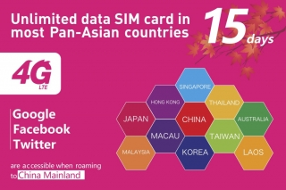 (15  days) unlimited data sim card(Mail to your contact address)